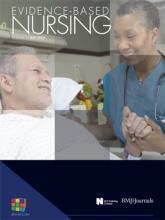 Evidence Based Nursing: 12 (3)