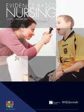 Evidence Based Nursing: 12 (4)