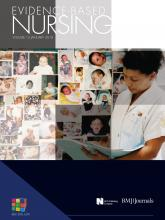 Evidence Based Nursing: 13 (1)
