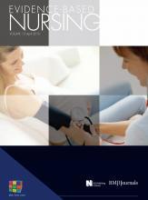 Evidence Based Nursing: 13 (2)