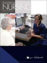 Evidence Based Nursing: 14 (1)