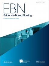 Evidence Based Nursing: 14 (3)