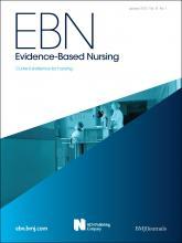 Evidence Based Nursing: 15 (1)