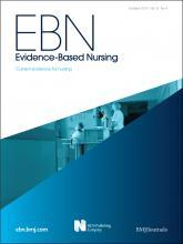 Evidence Based Nursing: 15 (4)