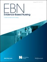 Evidence Based Nursing: 16 (1)