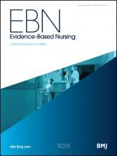 Evidence Based Nursing: 19 (4)